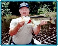 Larry Hildebrand with an 8.5 lb. bass